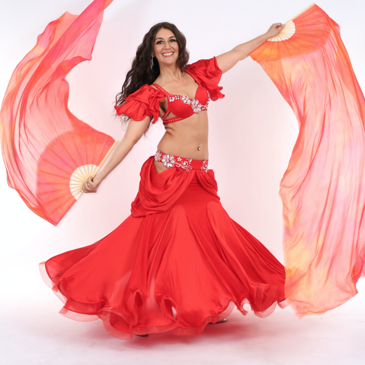 Double Fanveils Belly Dance Mondays with Oloma: (10wks) Jan-Mar 2019